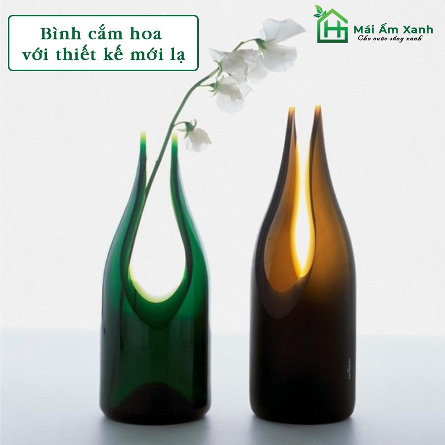 Trang trí nhà bằng bình hoa thiết kế độc đáo